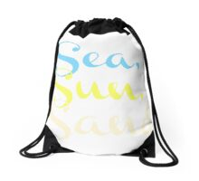 The Beach Drawstring Bag