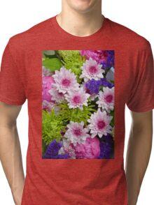 Colorful floral spring bouquet Tri-blend T-Shirt