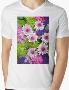 Colorful floral spring bouquet Mens V-Neck T-Shirt