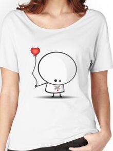 Sad boy with broken heart Women's Relaxed Fit T-Shirt