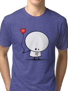 Sad boy with broken heart Tri-blend T-Shirt
