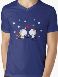 Dancing in the snow Mens V-Neck T-Shirt