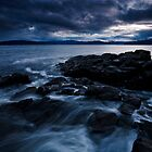 A brooding sky over the Derwent River by Michael Gay