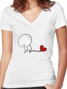 Love Prisoner Women's Fitted V-Neck T-Shirt