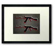 AK47 Assault Rifle Pop Art Framed Print