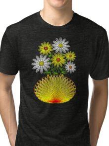 String Art Flowers Tri-blend T-Shirt