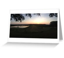 Texas Sunset Over Lake Greeting Card