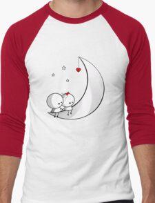 Sitting on the moon Men's Baseball ¾ T-Shirt