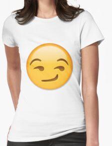 Smirking Emoji Womens Fitted T-Shirt
