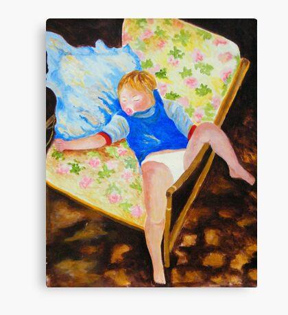 Baby Samantha, Asleep Canvas Print