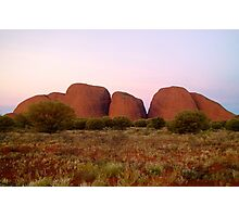 Kata Tjuta (The Olgas) at sunset Photographic Print