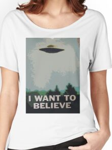 I Want to Believe- X Files Women's Relaxed Fit T-Shirt