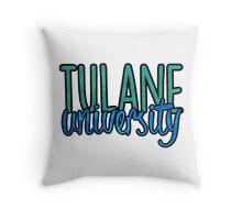 Tulane University Two Tone Throw Pillow