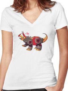 Snarl Women's Fitted V-Neck T-Shirt