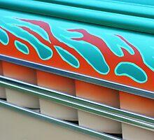 Street Rod Art: Flaming Louvers by Karen K Smith