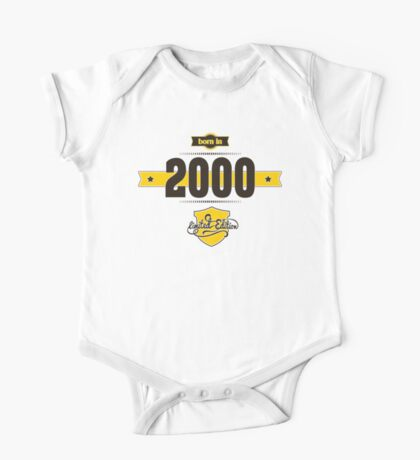 Born in 2000 (Choco&Yellow) One Piece - Short Sleeve