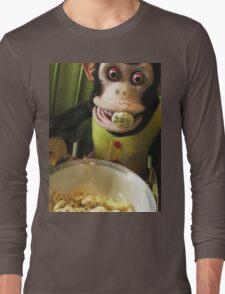 Musical Jolly Chimp Enjoys His Cereal Long Sleeve T-Shirt