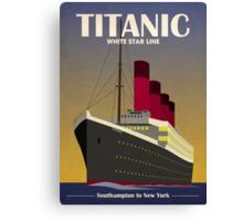 Titanic Ocean Liner Art Deco Print Canvas Print