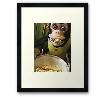 Musical Jolly Chimp Enjoys His Cereal Framed Print