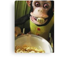 Musical Jolly Chimp Enjoys His Cereal Canvas Print