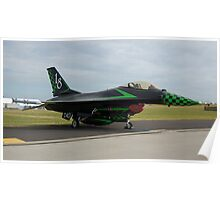 Hot Rod F16 Fighter Poster