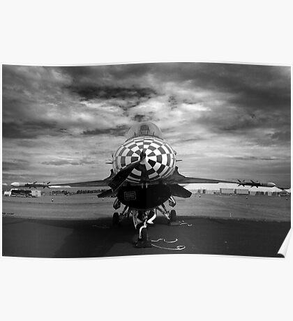 F-16 Check Poster