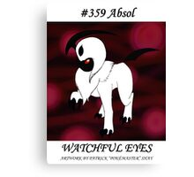 Absol: Watchful Eyes Canvas Print