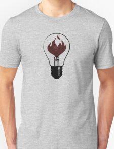 Flaming Lightbulb Unisex T-Shirt