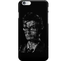 Doctor Who - The 10th Doctor - Word Cloud Image iPhone Case/Skin