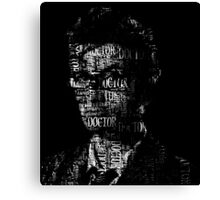 Doctor Who - The 10th Doctor - Word Cloud Image Canvas Print