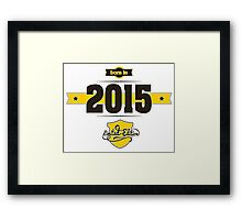 Born in 2015 (Choco&Yellow) Framed Print
