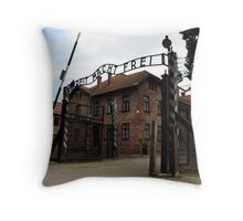 Auschwitz - Poland Throw Pillow