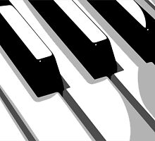 Piano Keyboard Pop Art by ArtPrints