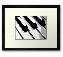 Piano Keyboard Pop Art Framed Print