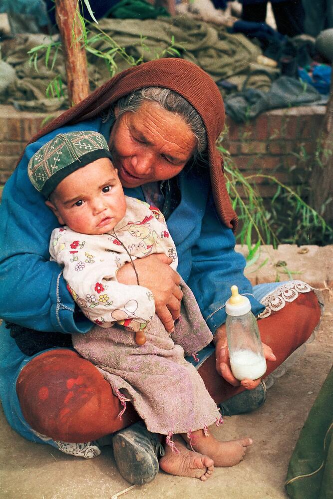 Market scene, Kashgar, China, 1987 by jensNP