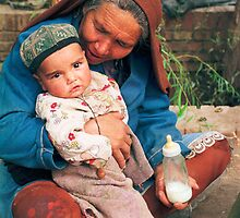 Market scene, Kashgar, China, 1987 by jensNP