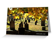 Fall Orton Cemetery Greeting Card