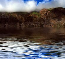 Hills Reflection On Water ! by Naveen  Sharma
