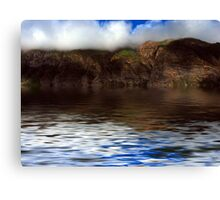 Hills Reflection On Water ! Canvas Print