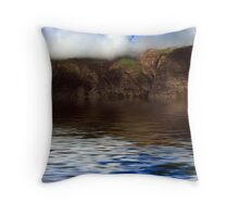 Hills Reflection On Water ! Throw Pillow