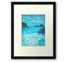 Return to the Blue Lagoon Framed Print