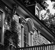 Mansion - Black & White by Corkle