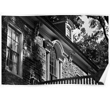 Mansion - Black & White Poster