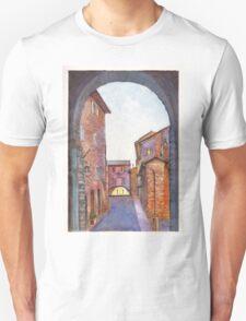 Assisi Street, Umbria, Italy Unisex T-Shirt