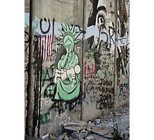 Graffiti - The West Bank Separation Wall, Palestine Photographic Print