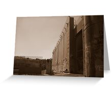 The West Bank Separation Wall, Palestine Greeting Card