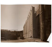 The West Bank Separation Wall, Palestine Poster