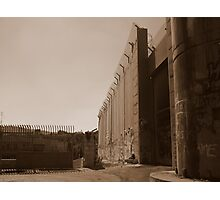 The West Bank Separation Wall, Palestine Photographic Print