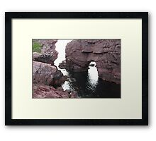 The Arch Hole Framed Print