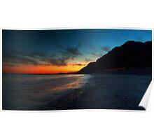 Branscombe beach at dusk Poster